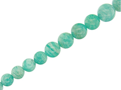 Russian Amazonite Graduated Round appx 6-12mm Bead Strand appx 15-16