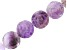 """Amethyst appx 16mm Carved Rose Coin Shape Bead Strand appx 15-16"""" In Length"""