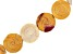 """Mookaite appx 16mm Carved Rose Coin Shape Bead Strand appx 15-16"""" In Length"""