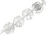 """Rock Crystal Quartz appx 16mm Carved Rose Coin Shape Bead Strand appx 15-16"""" In Length"""