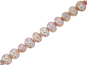 Cultured Freshwater Pearl Pink & Purple Potato Shape Large appx 2mm Hole Bead Strand appx 8