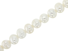 White Cultured Freshwater Pearl Potato Shape Large Hole Bead Strand appx 8