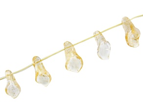 Citrine Carved Calla Lily Shape Appx 8x20mm Top Drilled Bead Strand Appx 15-16