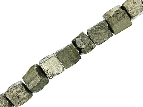 Pyrite Rough Cube appx 11x8-13x11mm Shape Bead Strand appx 15-16