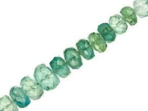 "Emerald Graduated & Faceted Rondelle appx 3-6mm Bead Strand appx 18"" appx 55-60 CTW"