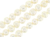 White Cultured Freshwater Pearls Set of 3 Appx 5-6mm Roundish Bead Strands Appx 14-15