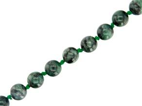 Brazilian Emerald Appx 10mm Round Bead Strand Appx 16