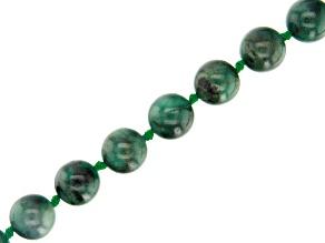 Brazilian Emerald Appx 12mm Round Bead Strand Appx 16