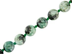 Brazilian Emerald Appx 14mm Round Bead Strand Appx 16