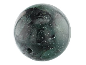 Brazilian Emerald in Matrix Appx 18mm Round Drilled Focal Bead