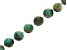 Brazilian Sugar Cane Emerald in Gray Matrix Appx 12mm Round Bead Strand appx 17-18