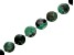 Brazilian Sugar Cane Emerald in Black Matrix Appx 12mm Round Bead Strand appx 17-18