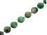 Brazilian Sugar Cane Emerald in Gray Matrix appx 11mm Round Bead Strand appx 17-18