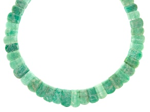 Amazonite Appx 12x9mm-22x11mm Graduated Collar Bead Strand Appx 17-18