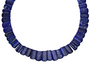 Lapis Lazuli Appx 12x9mm-22x11mm Graduated Collar Bead Strand Appx 17-18