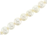 White Cultured Freshwater Pearl Potato Shape appx 9-10mm Bead Strand appx 14-15