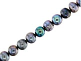 Peacock Cultured Freshwater Pearl Potato Shape appx 5-6mm  Bead Strand appx 14-15