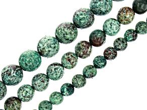 Mixed Ornamental Stone Round appx 6, 8 & 10mm Bead Strand Set of 3 appx 15-16