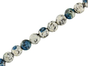Azurite in Granite Appx 6mm Round Bead Strand Appx 15-16