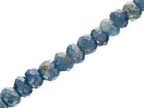 Blue Sapphire Faceted Rondelle appx 3-5mm Bead Strand appx 17-18