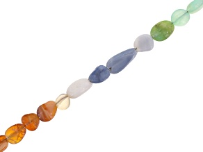 Multi-Opal appx 3x3-9x5mm Smooth Nuggets Bead Strand appx 35-36