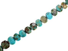 Arkansas Turquoise in Matrix Graduated Rondelle appx 5-9mm Bead Strand appx 15-16