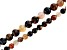 Petrified Wood Agate 6mm and 8mm Faceted Round Bead Strand Set of 2 appx 15-16