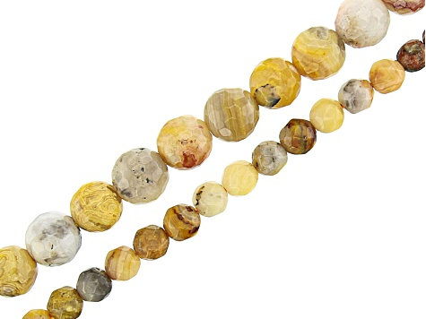 """4MM CRAZY LACE AGATE GEMSTONE FACETED ROUND LOOSE BEADS 15/"""""""