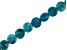 Blue Apatite Appx 6mm Checkerboard Cut Faceted Coin Shape Bead Strand appx 15-16