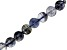 Iolite Appx 6mm Checkerboard Cut Faceted Coin Shape Bead Strand appx 15-16