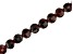 Garnet Appx 6mm Checkerboard Cut Faceted Coin Shape Bead Strand appx 15-16