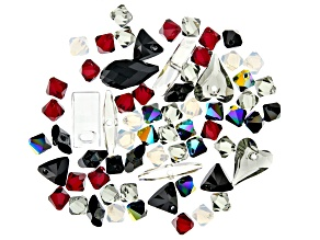 Swarovski ® Elegant Evening Crystal Mix in Assorted Shapes and Colors Appx 78 Pieces Total