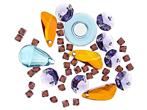 Swarovski ® Jewel Party Crystal Mix in Assorted Shapes and Colors Appx 53 Pieces Total
