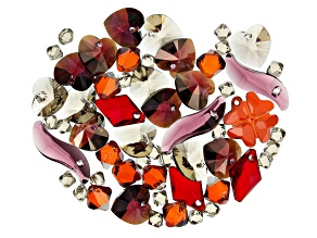 Swarovski ® Hearts Ablaze Crystal Mix in Assorted Shapes and Colors Appx 64 Pieces Total