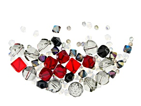 Swarovski ® Elegant Evening Crystal Mix in Assorted Shapes and Colors Appx 92 Pieces Total