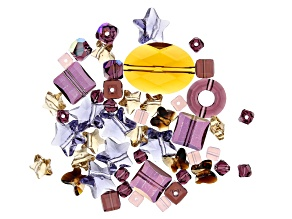 Swarovski ® Sugar Plum Crystal Mix in Assorted Shapes and Colors Appx 60 Pieces Total