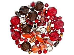 Swarovski ® Hearts Ablaze Crystal Mix in Assorted Shapes and Colors Appx 75 Pieces Total