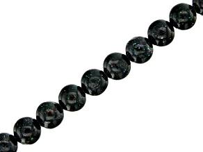 Honduran Black Opal appx 6mm Round bead strand appx 15-16
