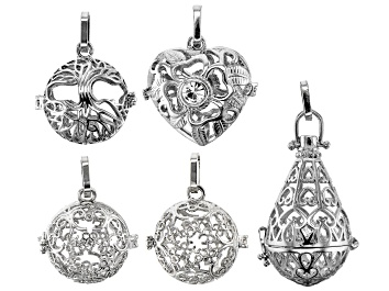 Picture of Diffuser Focal Set of 5 in Assorted Styles in Silver Tone