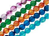 Agate Faceted Round Set of 5 Appx 8mm Bead Strands