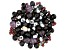 Glass Beads 1/2lb Bag in Black Mix in Assorted Shapes and Colors