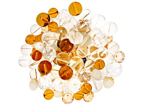 Glass Beads 1/2lb Bag in Neutral Mix in Assorted Shapes and Colors