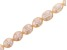 Peach Cultured Freshwater appx 7-8mm Rice Shaped Pearl Bead Strand Appx 13-14