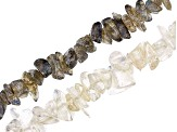 Endless Chip Strands Set of 4 including 2 in Labradorite and 2 in Rock Crystal Quartz appx 32-34