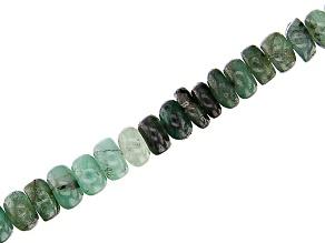 """Sakota Emerald Appx 4mm Rondelle Bead Strand Appx 15-16"""" in length"""