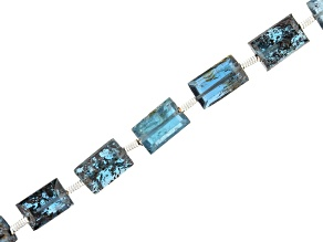 """Indigo Kyanite Appx 8x5mm Cube Bead Strand appx 15-16"""" in length"""