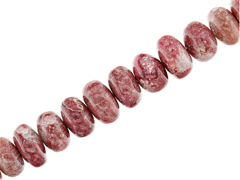 Thulite Appx 5-8mm Smooth Rondelle Bead Strand Appx 15-16