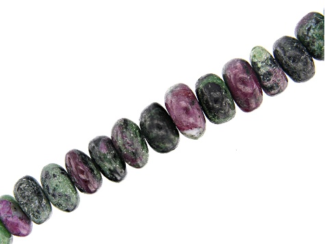 Ruby-Zoisite Bead Strand Appx 15-16