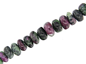 "Ruby-Zoisite Bead Strand Appx 15-16"" in length"
