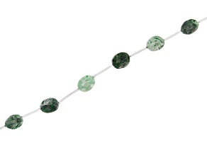 "Jadeite in Matrix Oval Bead Stand appx 15-16"" in length"